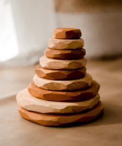 2 tone wooden stacking stones