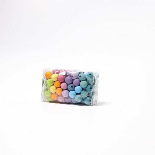 120 small pastel wooden beads