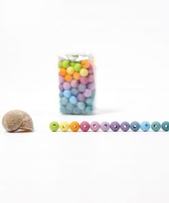packaged and single wooden beads