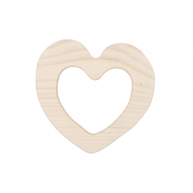 wooden story heart teether