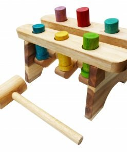 Peg and hammer wooden toy